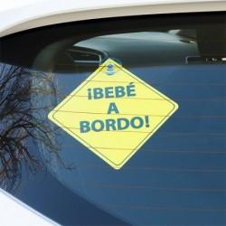 CARTEL BEBE A BORDO CON...