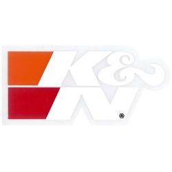 """DECAL/STICKER K&N WHITE 3""""..."""